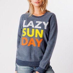 Chaser Lazy Sunday Pullover Sweatshirt Blue